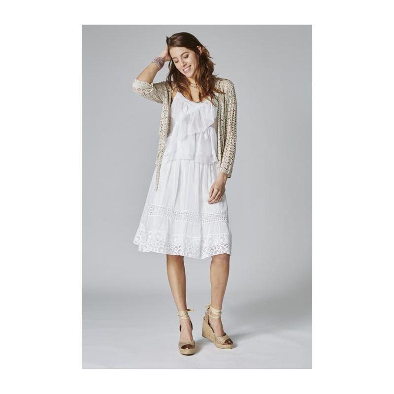 Silk lace skirt