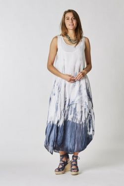 Long T/D cotton dress