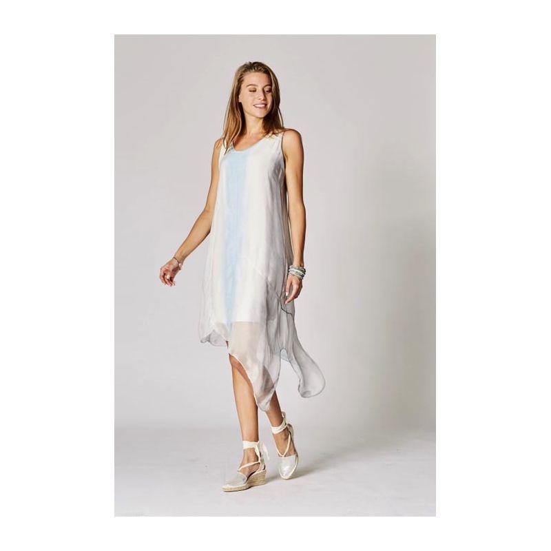 Asy bottom silk dress