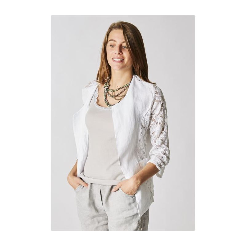 Linen and Lace jacket