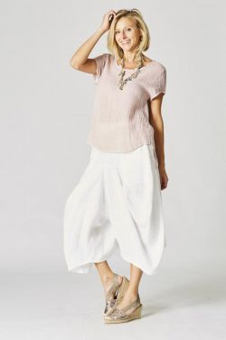 Linen balloon leg pants