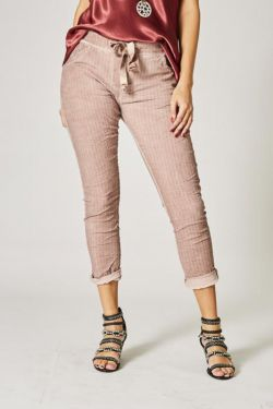 Striped jegging pants