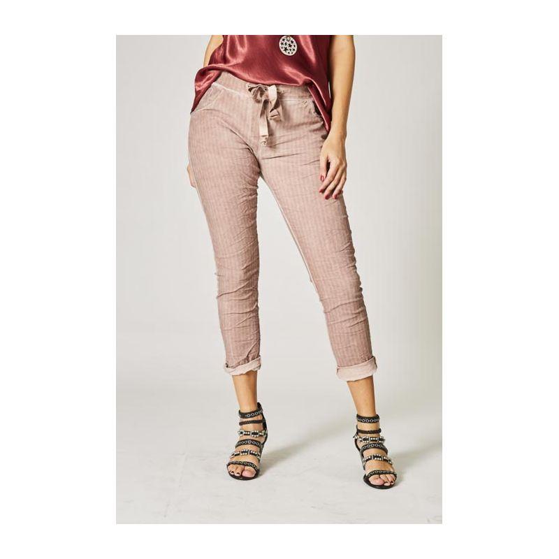 Striped jegging pants