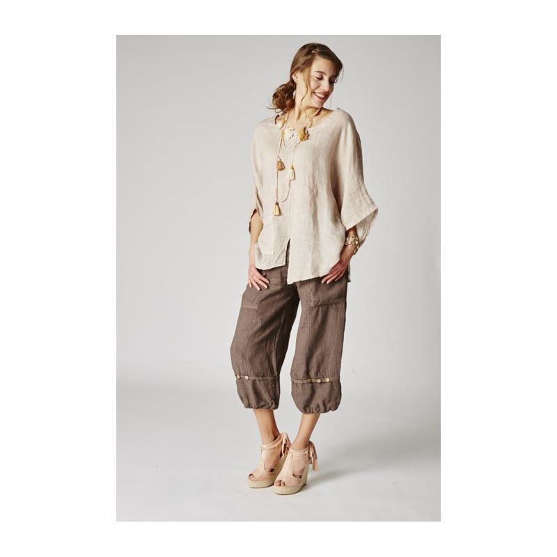 Cropped linen pants
