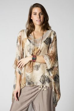 V neck printed blouse