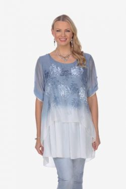 2 layers tunic tie back