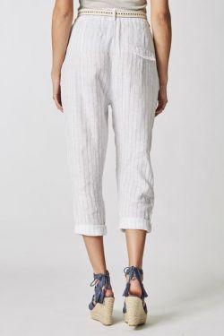 Lien pants silver thread strips