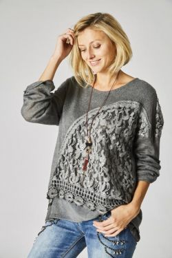 Sweater lace detail