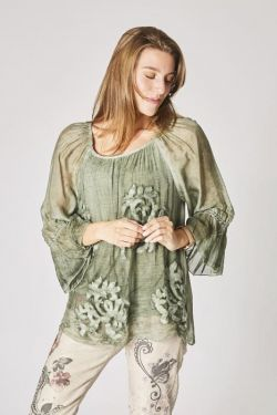 Crepe silk blouse