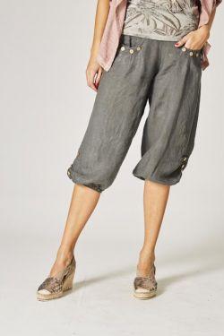 Crop linen pants
