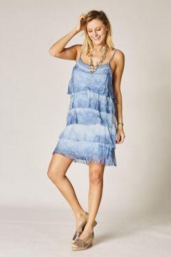 Spag strap Ruffle Dress