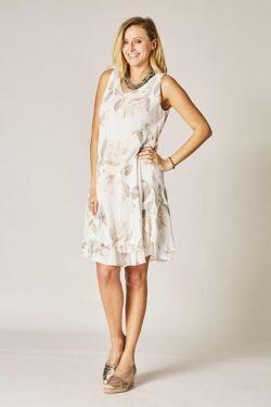 Sleeveless flower printed Dress