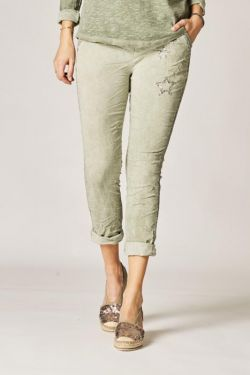 Jegging pants with shiny stars