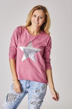 T-Shirt silver star