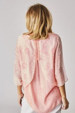 Silk blouse with detail on back