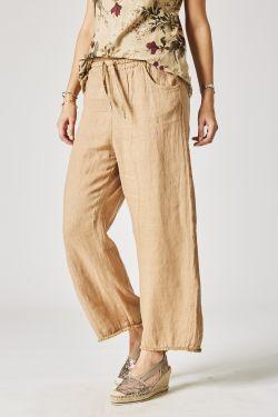Laura H- Wide legs linen pant