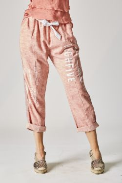 Writing linen pants
