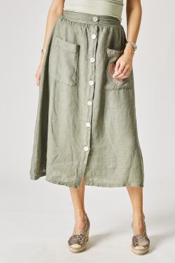 Laura H- Linen skirt with...