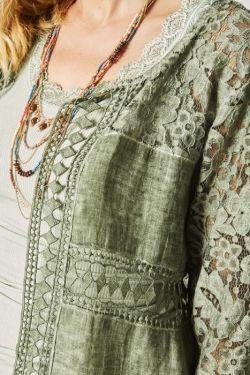 Linen/Lace cardigan