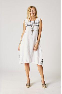 Linen Dress, Strips design