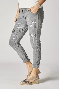 Jeg Pants with sequins and...