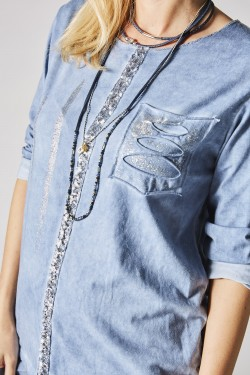 LS Shirt with sequins details