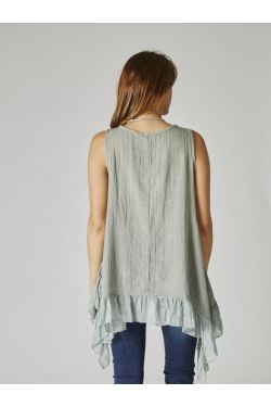 No sleeve loose tunic