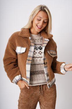 Plaid Trim Coat