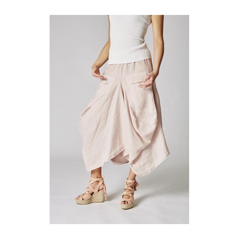 Skirt « sarouel style » with pockets linen