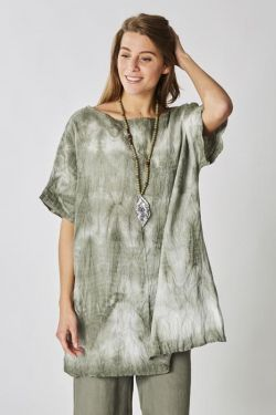 Tie and dye linen top