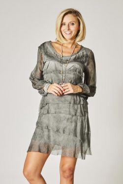 Uni dress layered ruffle