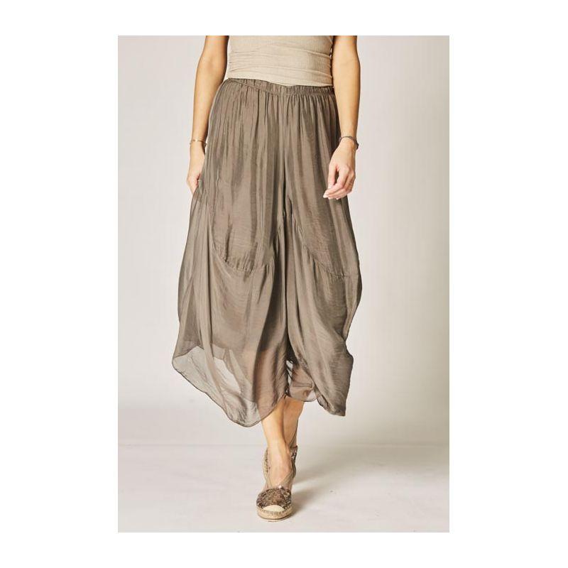 Silk crop pants