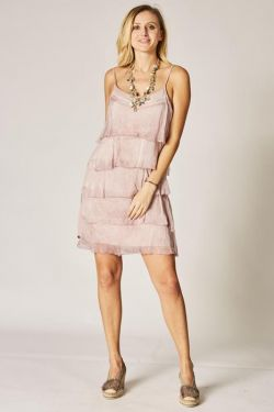 Spag strap Ruffle Dress
