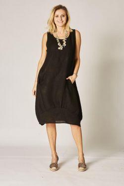 Balloon linen dress