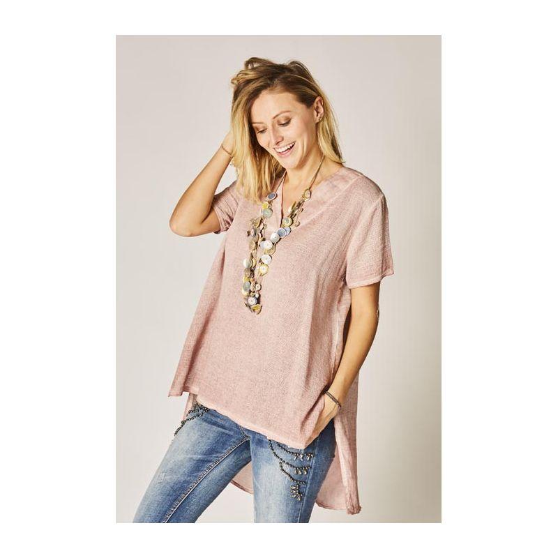 Linen/cotton tunic, open back