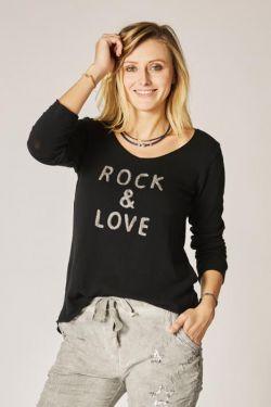 "T-Shirt V neck ""Rock & Love"""
