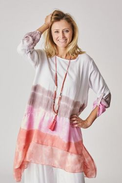 Tunic with ombre stripes