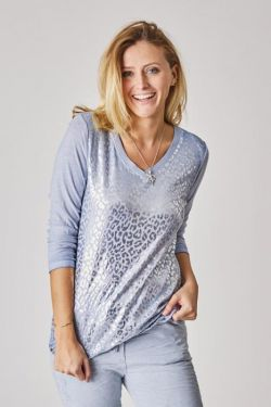 Light sweater silver animal print