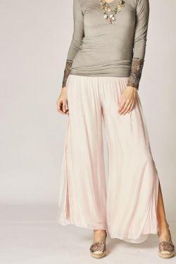 Silk Pants split on side