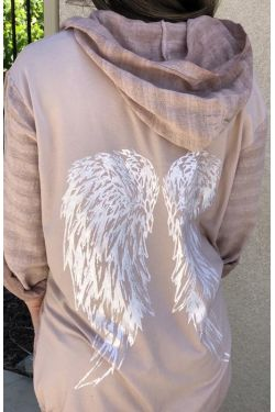Cotton jacket, Angel wings on back