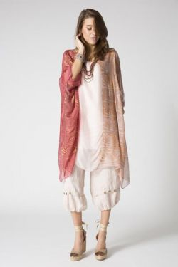 Printed silk kaftan dress/tunic